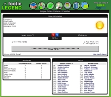 Game Screenshot - Footie Legend