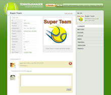 Game Screenshot - Tennis manager