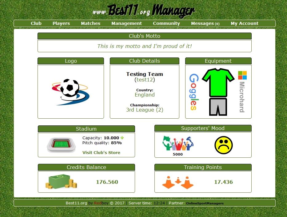Online Soccer Manager Game